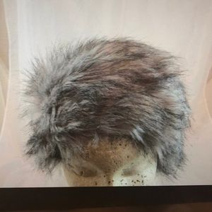 Faux fur gray hat